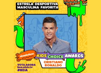 CRISTIANO RONALDO NOMEADO PARA OS NICKELODEON KIDS' CHOICE AWARDS