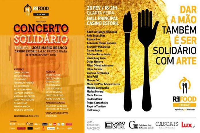 Evento solidário com exposição e concerto em prol da Refood, no Casino Estoril