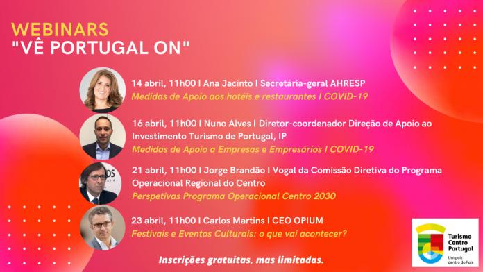 Turismo Centro de Portugal organiza videoconferências temáticas