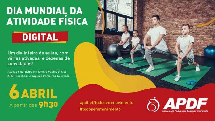 APDF celebra o Dia Mundial da Atividade Física com muita Atividade Física...digital