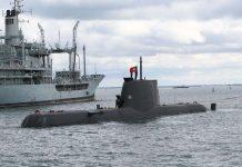 submarino Tridente e exercício inédito