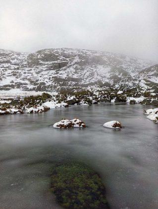 gelo na montanha