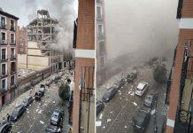 Explosão no centro de Madrid