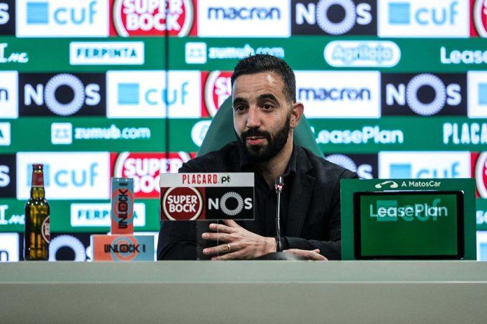 Rúben Amorim jogo com o Nacional
