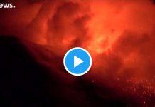 vulcão Etna entrou em erupção