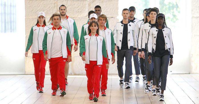 uniformes dos atletas para os Jogos Olímpicos Tóquio