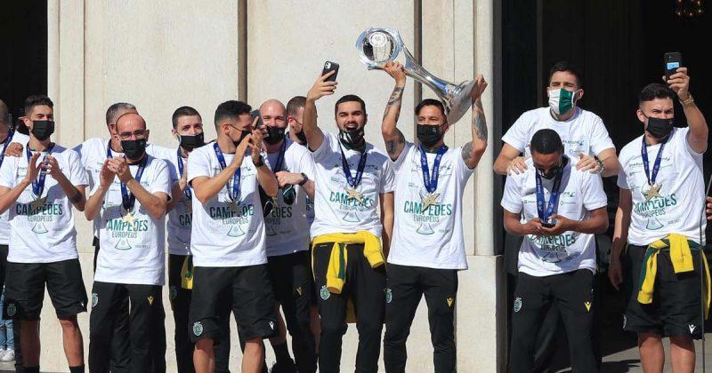 Campeões Europeus de Futsal recebidos em Lisboa