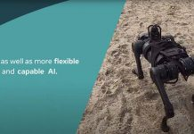 Robô que pode caminhar na areia