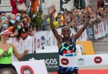 Andualem Shiferaw na Maratona de Lisboa