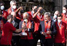 Presidente da República com Seleção Nacional de futsal